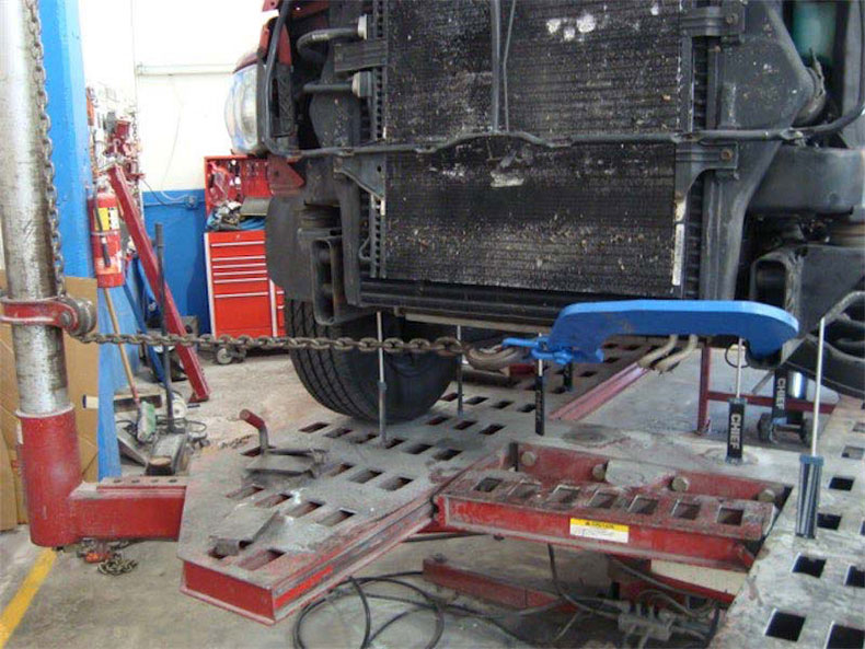 Truck on frame machine