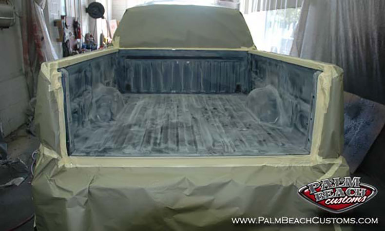 Dark-Blue-Truck-Bedlining-truck-bed-surface-primed-for-bedlining