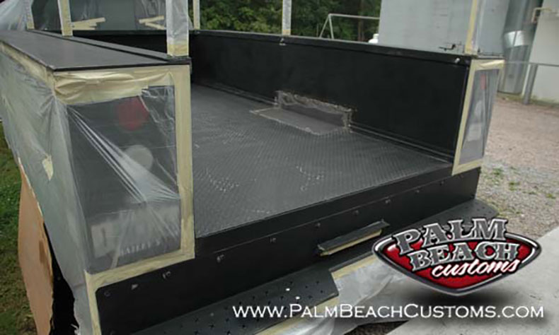 Heavy-Duty-Truck-Bednining-Ft-Myers-covering-backlights-before-sprayon