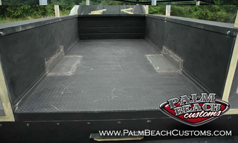 Heavy-Duty-Truck-Bednining-Ft-Myers-clened-metal-surface-before-bedlining