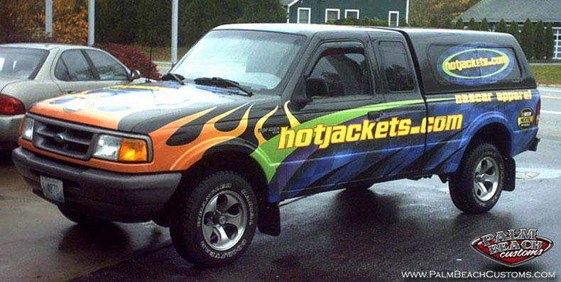 multi-color lettering for a company truck for perfect 3D effect ft myers, cape coral, lee county, swfl