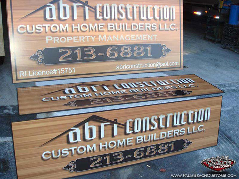top quality lettering services multi-color lettering for a company truck for perfect 3D effect ft myers, cape coral, lee county, swfl