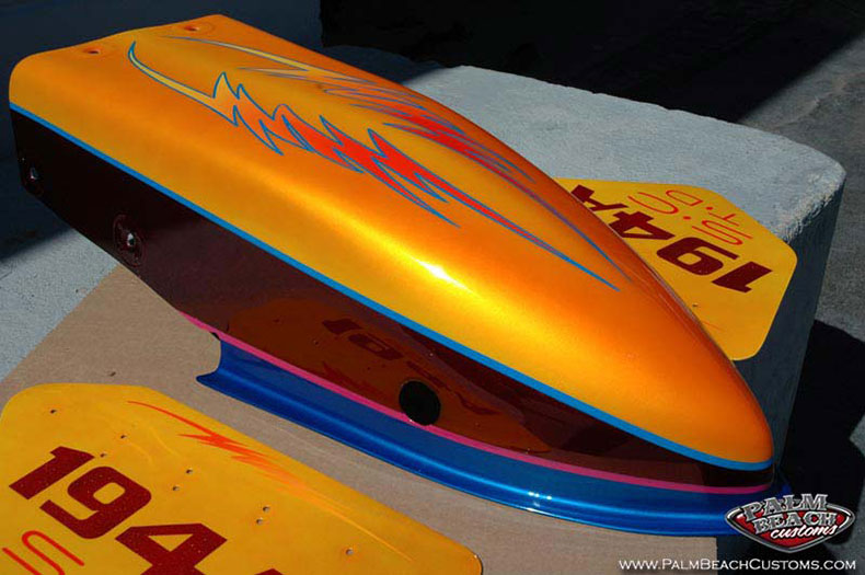 Custom dragster paint and graphics with racing stripes ft myers, cape coral, lee county, swfl