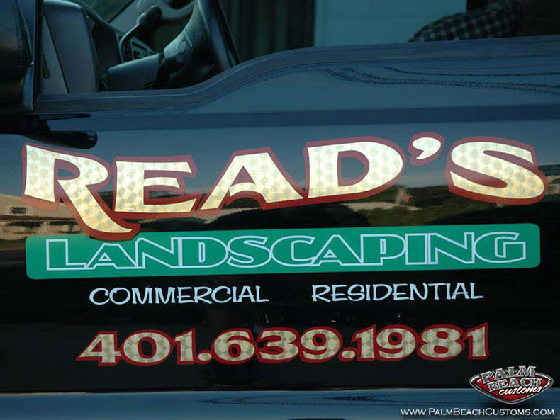 lettering with high quality foil and airbrush for cars trucks boats bikes, multi-color designs for perfect 3D look ft myers, lee county, cape coral, swfl