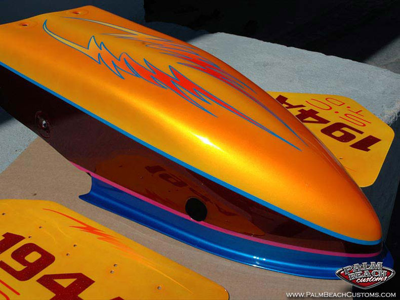 Dragster, custom paint and artwork, Naples, Cape Coral, Ft Myers, Palm Beach
