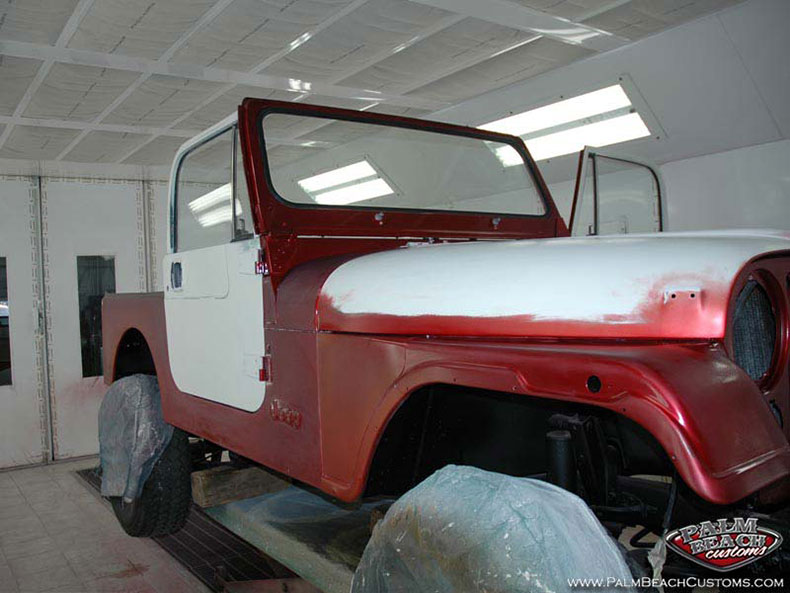 1983 CJ-7 Jeep custom paint and restoration