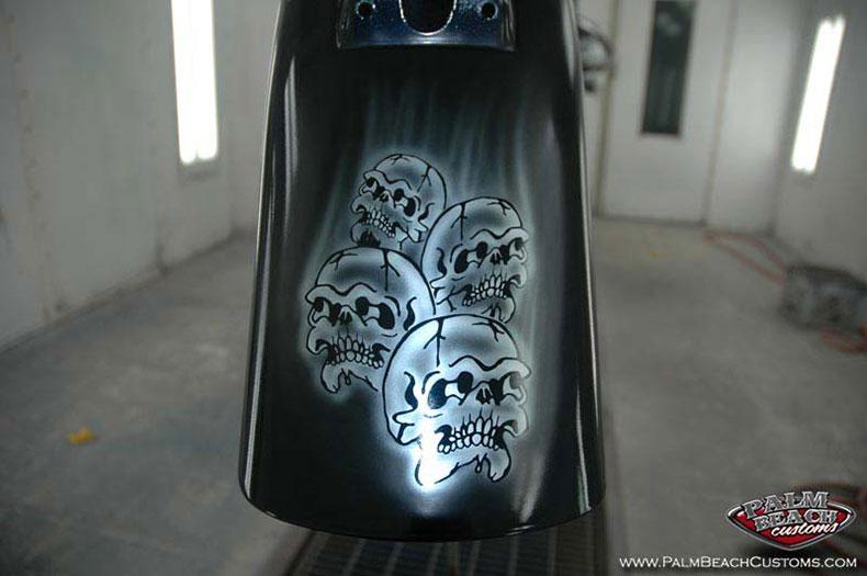 Bike graphics, airbrush, custom paint, Ft Myers, Palm Beach