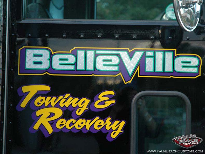 Chrome Foil Truck Lettering Services for Derrick from Belleville
