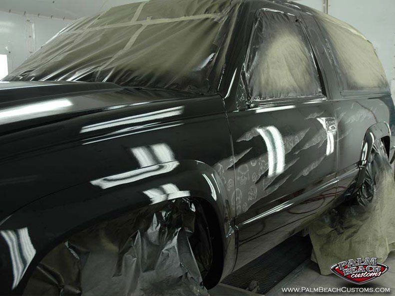 Custom paint, airbrush, car artwork, Ft Myers, Lee County, Naples, SWFL.