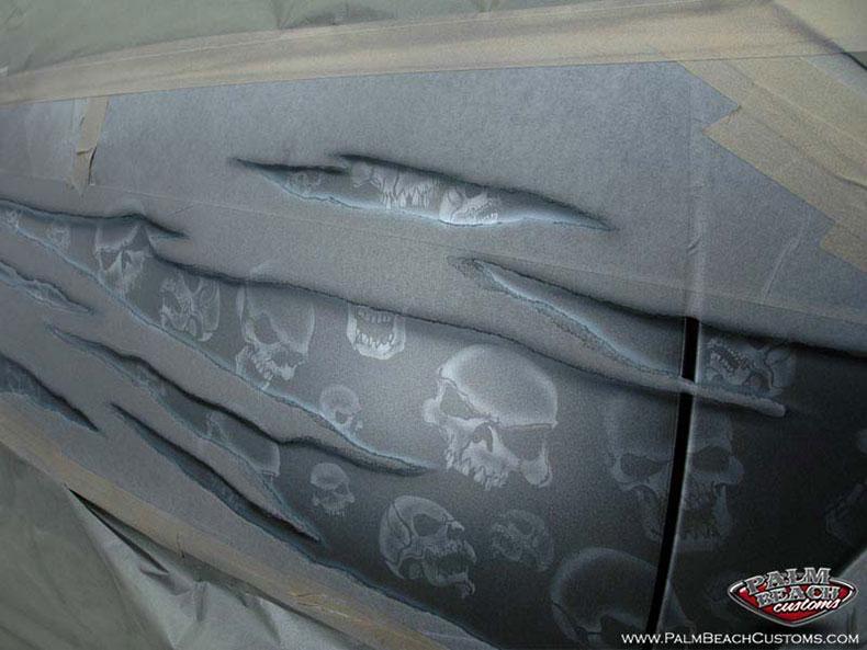 Custom paint, airbrush, car artwork, Ft Myers, Lee County, Naples, SWFL.