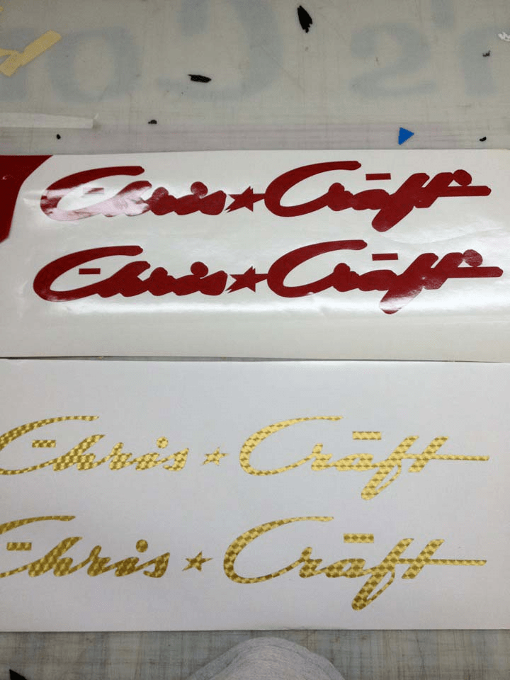 boat lettering done at palm beach customs 1