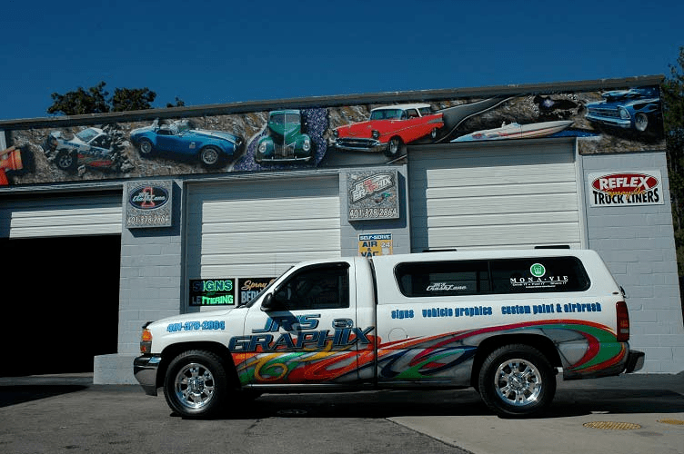 commercial business graphics with house of kolor custom paint