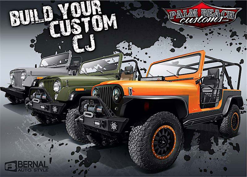 Palm Beach Customs Spray on Bed Liner Services Jeeps 4×4's