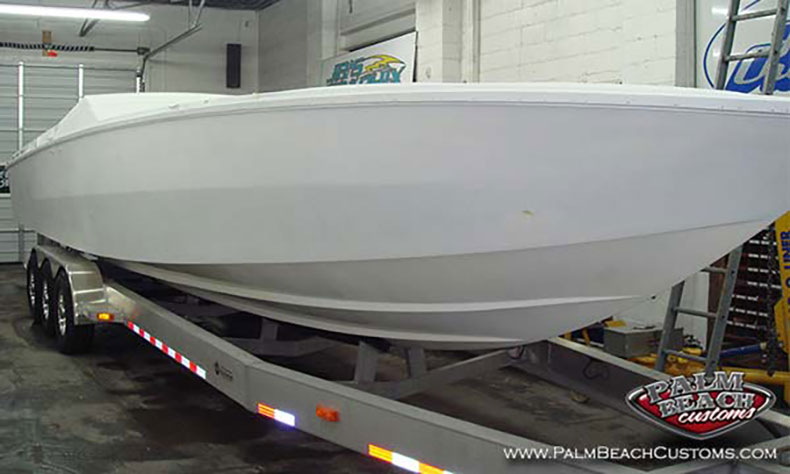 boat fiberglass gelcoat and refinishing