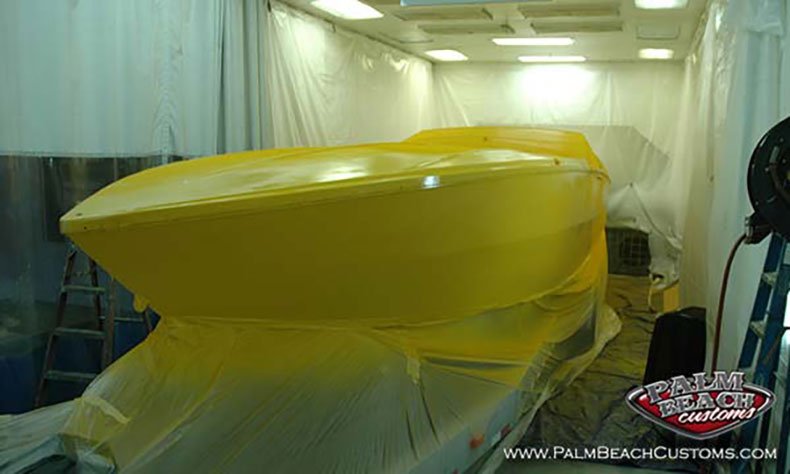 boat fiberglass gelcoat and refinishing 6