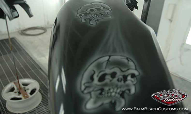 custom motorcycle painting
