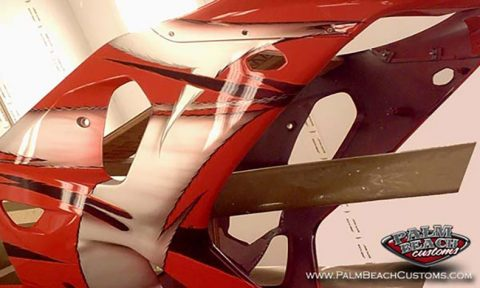 Sportbike Custom Painting And Graphics Services At Palm Beach Customs