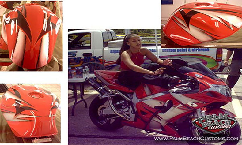 sport bike custom painting and graphics 4