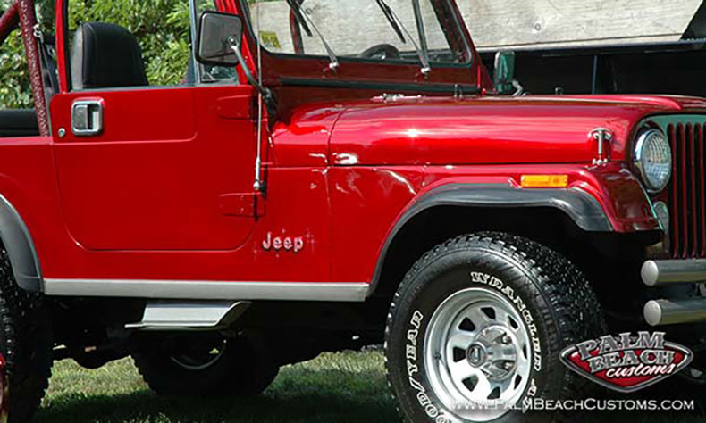 parts and accesories red Jeep 83 CJ7 painting