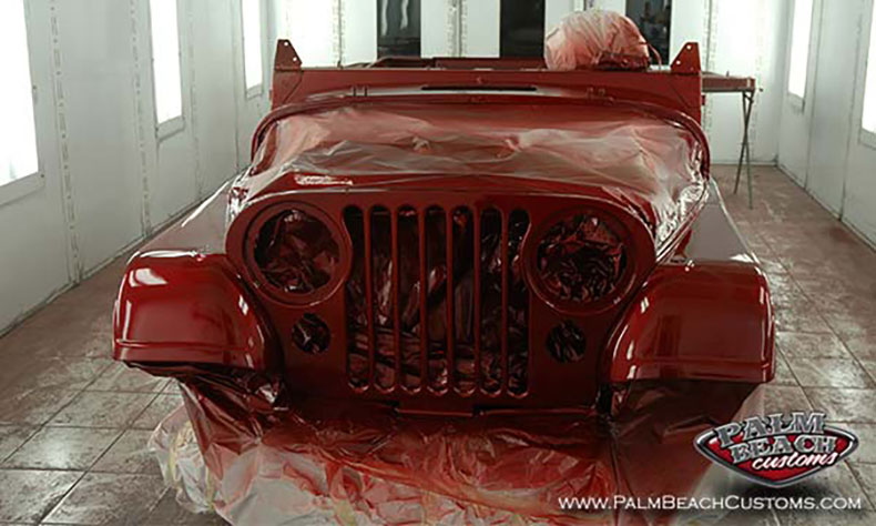 red Jeep parts and accesories 83 CJ7