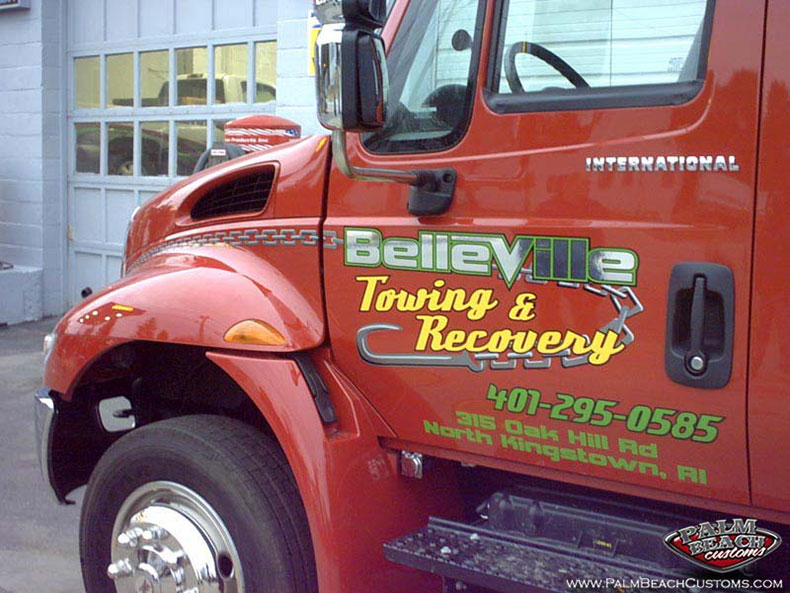 chrome foil truck lettering services ft myers lee country cape coral swfl 57