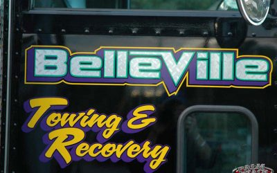 Truck Lettering With Chrome Foil For Derrick From Belleville