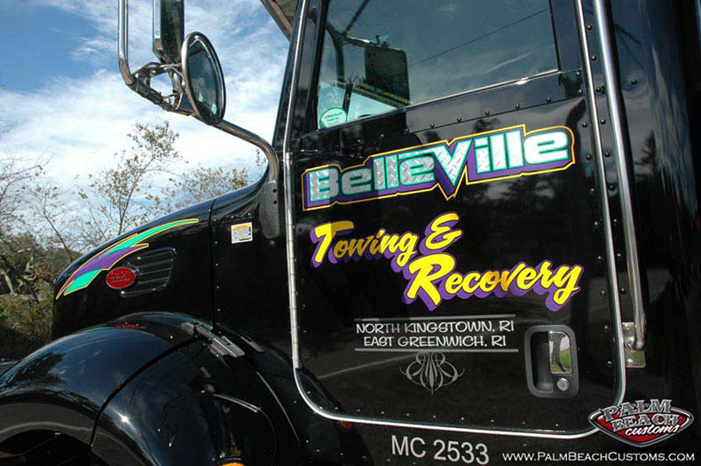chrome foil truck lettering services Truck design oaint ft myers swfl lee country 8