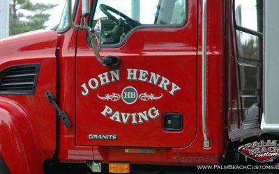 John Henry Local Business Truck Lettering With Two Layers For A Great 3D Looks