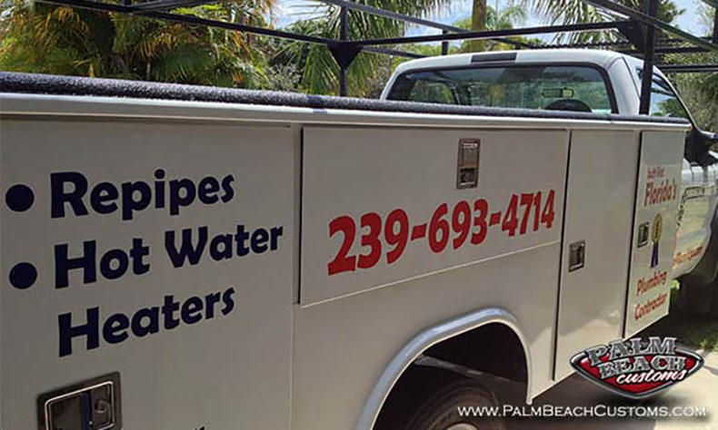 commercial fleet truck lettering packages cape coral plumbing pics 3