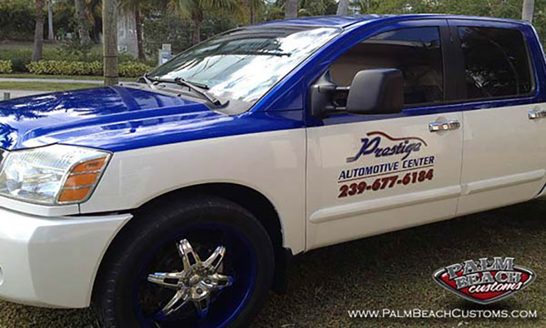 truck lettering done with automative paints 1