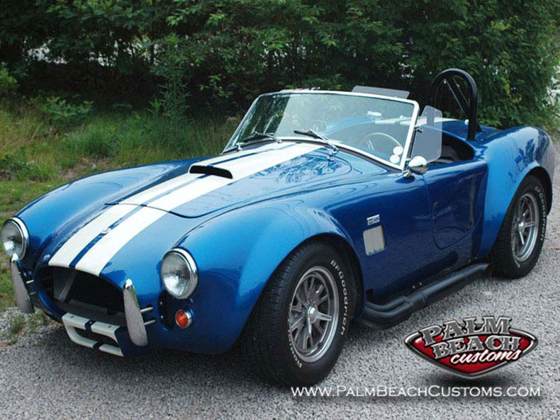 fully restored shelby cobra factory five body with racing stripes