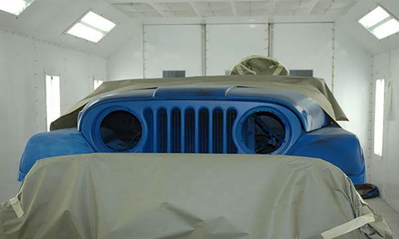 jeep body restoration back taped