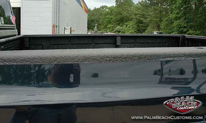 chevy truck restoration spray on bed liners over rail