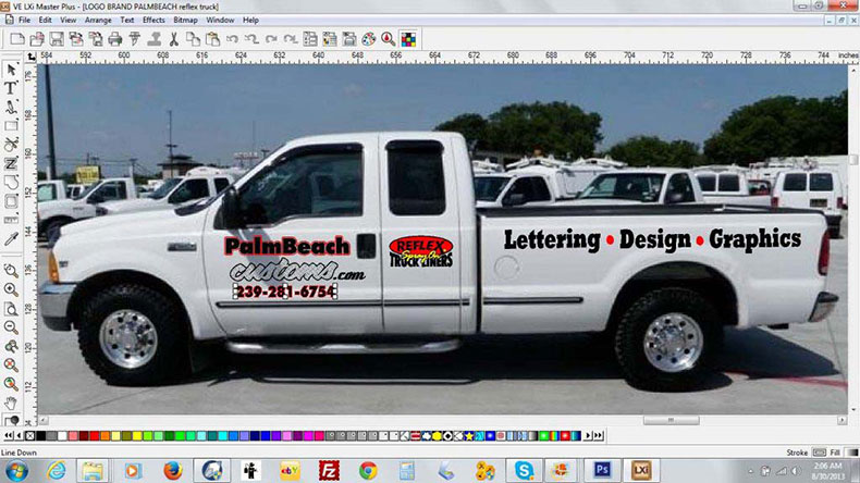 business lettering mock up for graphics design palm beach customs
