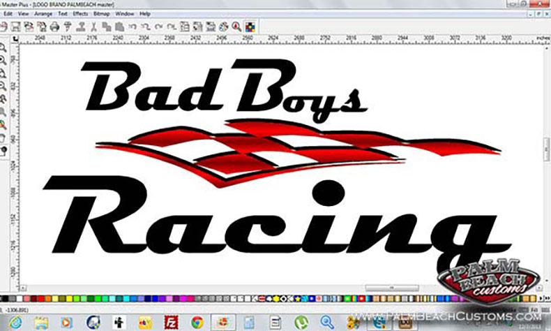 motor cross team new logo design black with red candy bad boyz