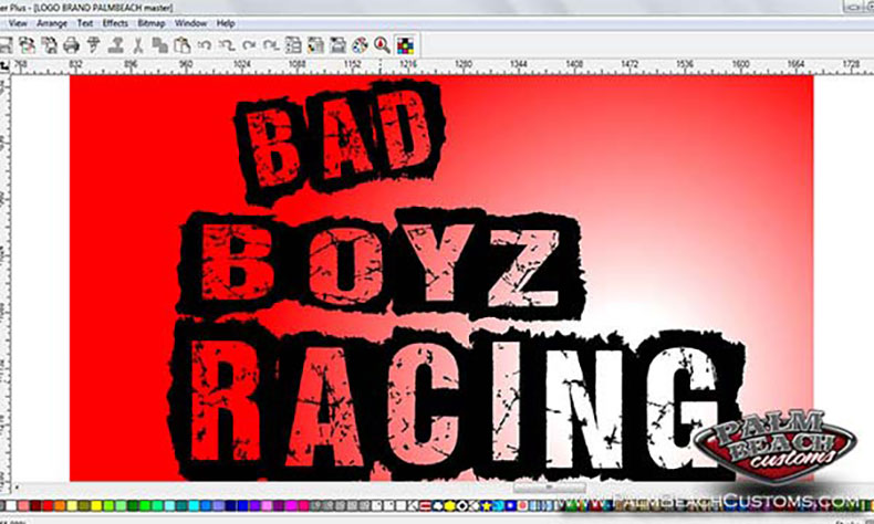 motor cross team new logo design red bad boyz