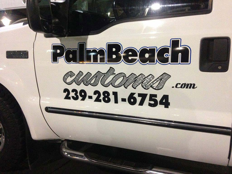 palm beach customs business lettering