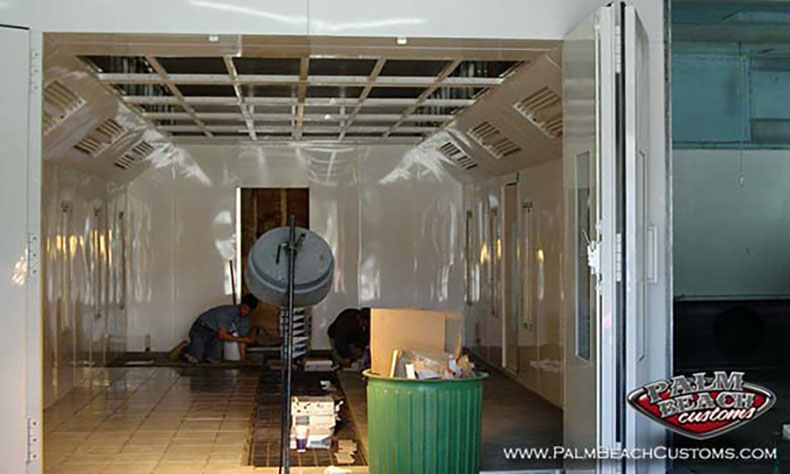 down draft paint booth and paint room