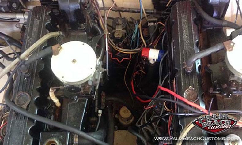 1976 performer 233 292 twin screw power boat restoration pristine condition engine 1