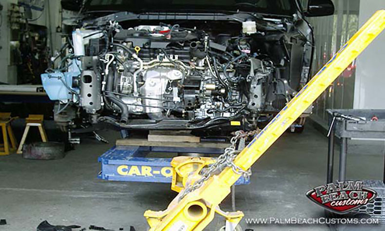 auto collision frame alignment torn down