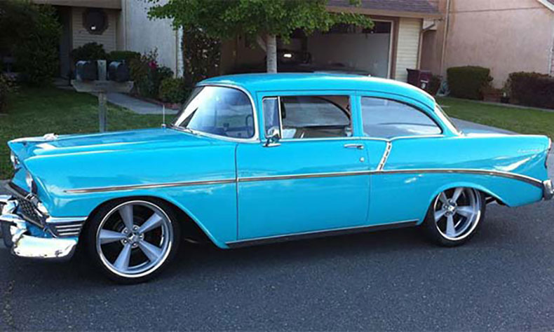 1956 chevy build blue