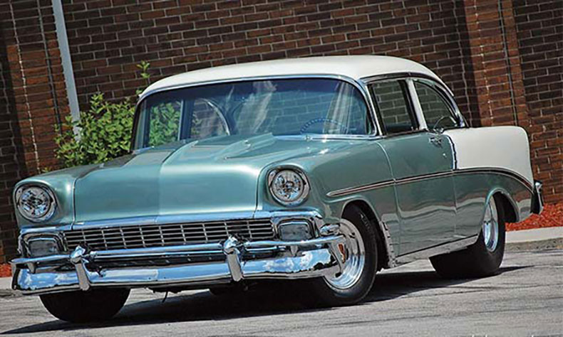 1956 chevy build green