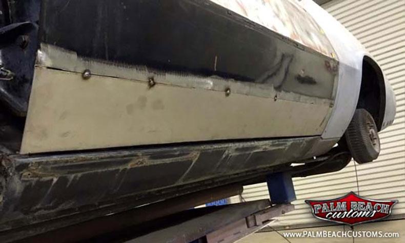 1967 cadillac eldorado show car build bottom door skin