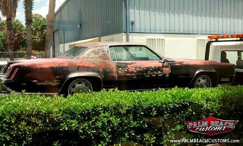 car rolled up 1967 cadillac eldorado show car build