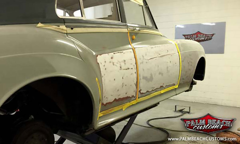 1961 rolls royce silver cloud build mud and primer on passenger side