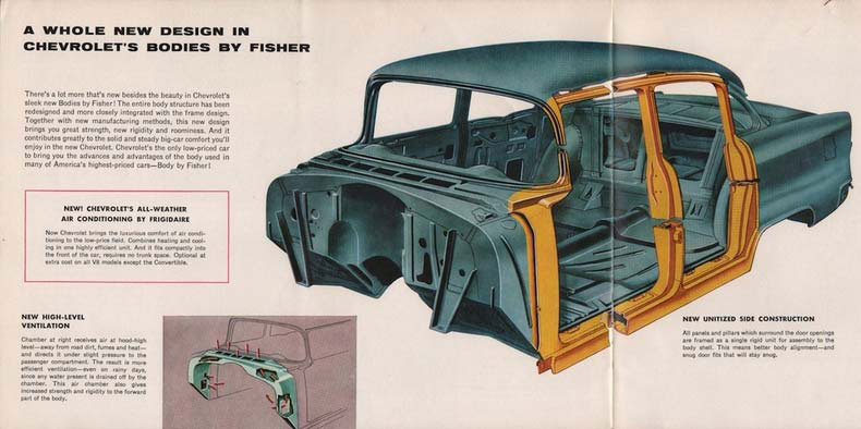 1955 chevrolet hot rod build body by fisher