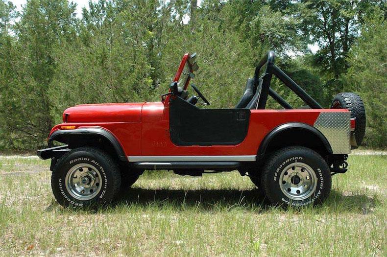 1984 jeep CJ-7 renegade left side view 2