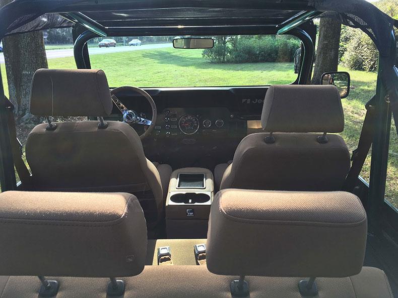 the beast 1979 Jeep CJ-7 back view seats
