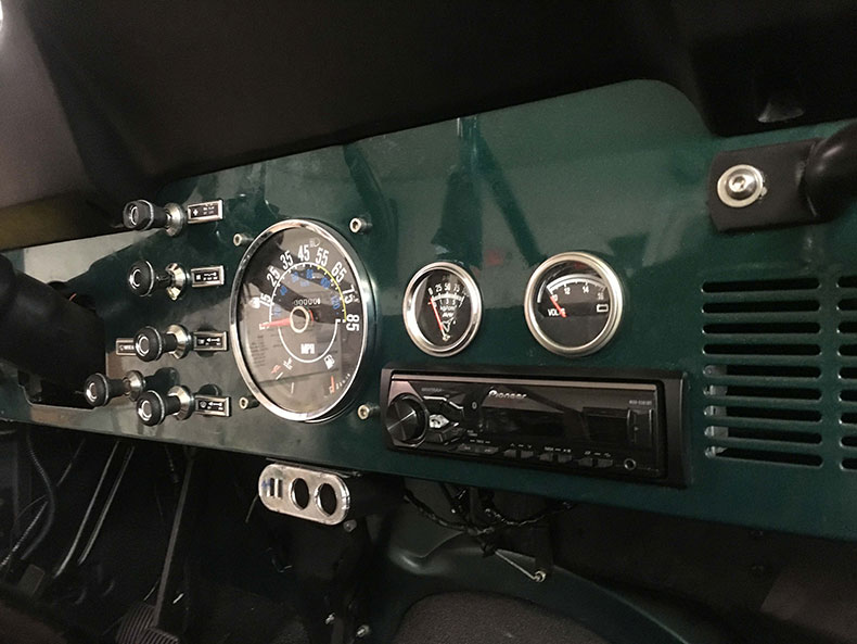 the beast 1979 Jeep CJ-7 dashboard