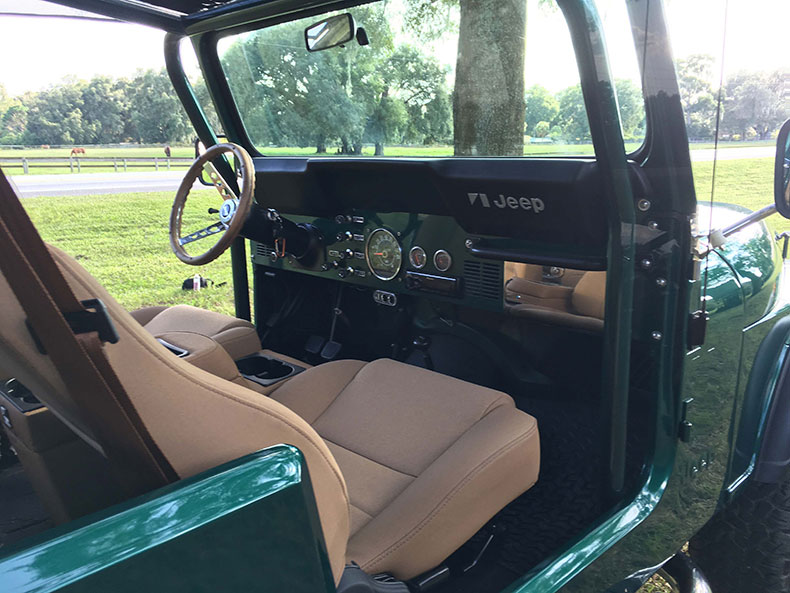 the beast 1979 Jeep CJ-7 front seats